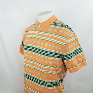 Polo Ralph Lauren Men Polo Shirt Sz Large Orange